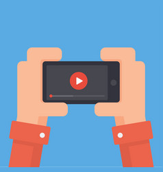 online video on phone vector image vector image
