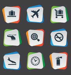 set of simple transportation vector image
