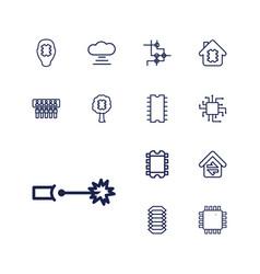 13 circuit icons vector