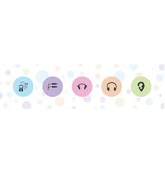 5 ear icons vector