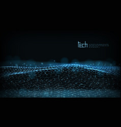 abstract 3d futuristic dots and lines techno vector image