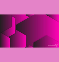 abstract background hexagon pink light and shadow vector image