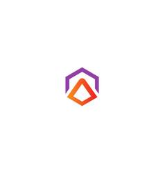 abstract shape geometry company logo vector image