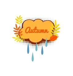Autumn logo with autumn leaves vector