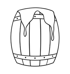 Barrel of honey icon in outline style isolated on vector image