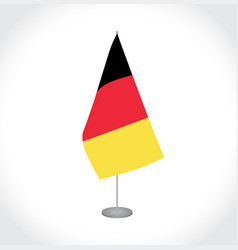 belgium flag on white background vector image