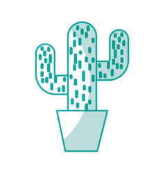 Cactus office plant isolated icon vector