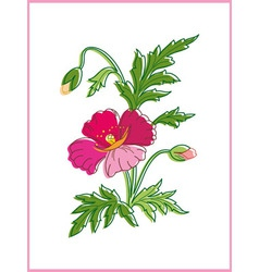 Card with beautiful flower vector image