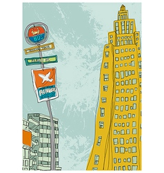 City Sketch Drawing vector image