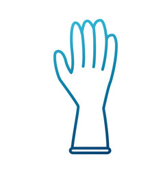 cleaning glove isolated vector image