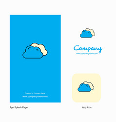 clouds company logo app icon and splash page vector image