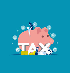company analysis tax financial concept business vector image