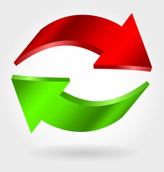 counter red and green arrows vector image