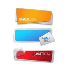 Creative realistic abstract banner design vector image