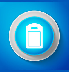 cutting board icon isolated on blue background vector image