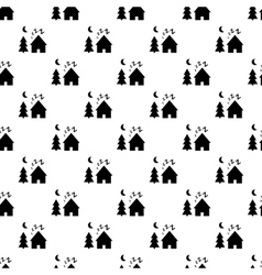 Dream village pattern seamless vector