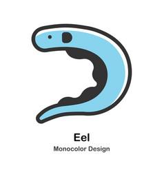 Eel monocolor vector
