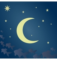 Fabulous moonlit night vector