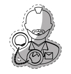 Figure arrested man with handcuffs icon vector