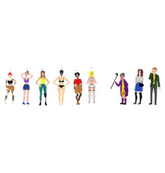 flat body positive women irritated people vector image