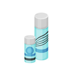 flat set of small and big cosmetic spray vector image