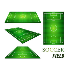 football field soccer field vector image