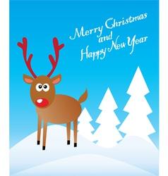 Funny Deer vector image