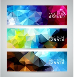 Geometric triangles banner background vector