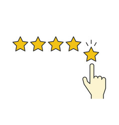 giving five stars rating linear on vector image