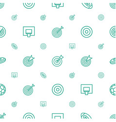 Goal icons pattern seamless white background vector