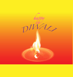 happy diwali traditional indian festival colorful vector image