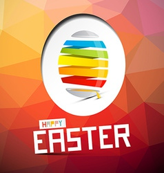 Happy Easter with Abstract Colorful Egg on T vector image