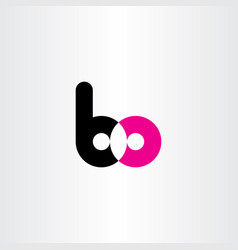 letter logo b and o bo symbol logotype element vector image