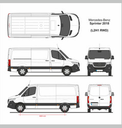 Mercedes sprinter cargo van l2h1 rwd 2018 vector