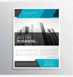 Modern business flyer brochure cover template vector