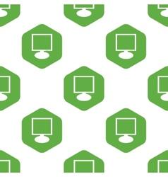 Monitor pattern vector image