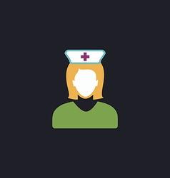 Nurse computer symbol vector