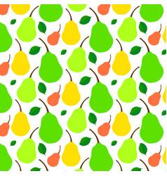 pattern juicy ripe pear vector image