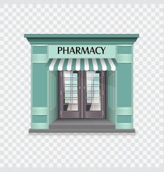 Pharmacy building vector