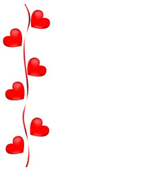 postcard hearts valentines day wedding vector image