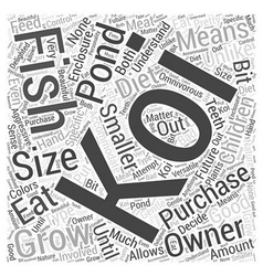 Purchasing The Koi For Your Pondwps Word Cloud vector
