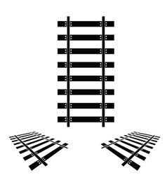 rails set black vector image
