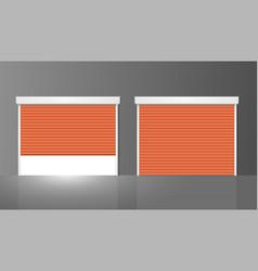 realistic detailed 3d shutter door or rolling door vector image