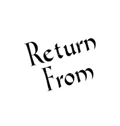 return from rubber stamp vector image