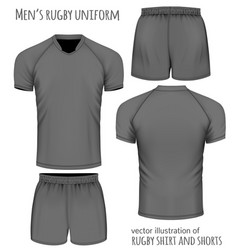 Rugby uniform in black vector