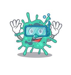 Shigella boydii mascot design concept wearing vector
