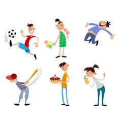 six children set vector image