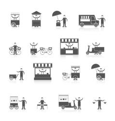 Street food icon black vector image