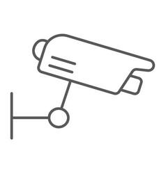surveillance camera thin line icon guard digital vector image
