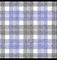 tartan dotted seamless pattern abstract vector image